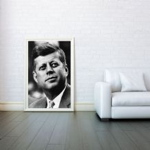 John F. Kennedy, JFK, Decorative Arts, Prints & Posters,Wall Art Print, Poster Any Size - Black and White Poster